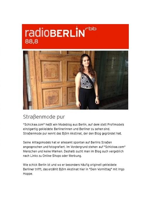 rbb-schickaa-Radiointerview-Rundfunk Berlin-Brandenburg-Björn Akstinat-Mode-Blog-Street-Fashion