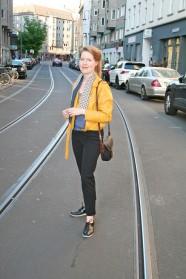 Marie Sophie auf der Neuen Schönhauser Straße (Berlin-Mitte)
